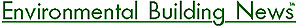 Environmental Building News logo