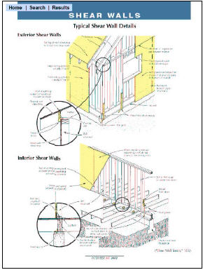 JLC CD-ROM screen-shot of shear wall diagrams