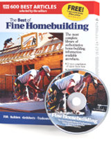 Fine Homebuilding product box and a disc