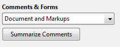 Shows the comments & forms option in the print preview